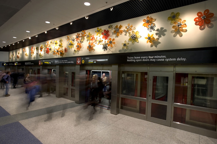 Resin Wall Art nancy blum : public art : flower wall : seattle :